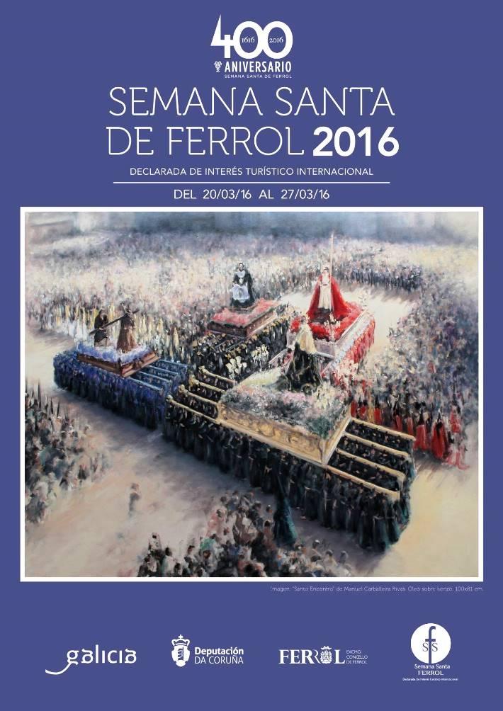 Cartel de la Semana Santa de Ferrol 2016