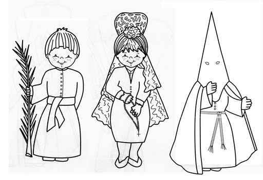 imagenes de semana santa para colorear 3