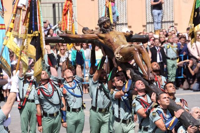 Todo sobre la procesión de legionarios Málaga